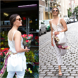 Evelyne Wyss - Pollini Platform Sandals Gold, Carl F Bucherer Pathos, Parfois White Bag - My CFB Look