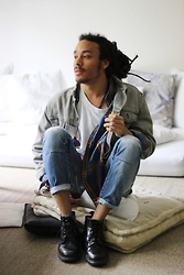 Philip Antony - Levi's® Jeans Jacket, Dr. Martens Shoes, Asos Shirt - Tell Me A Story