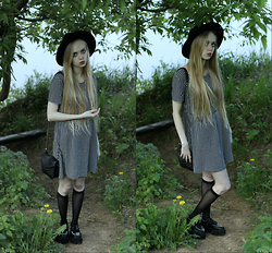 Eliza Modex - H&M Dress, Bag, H&M Golfs, Creepers (The Informal Shop), H&M Hat - Lenore grown
