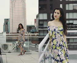 Katia H. -  - Off Shoulder Dress on the Rooftop