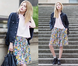 Ebba Zingmark - Monki Skirt, Jacket, Top, Boots, Style Moi Backpack - SLOW DOWN