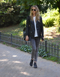 Lucie Redlich - H&M Jacket, H&M Jeans, H&M Shoes, Mango Bag, Mango Top - In Love with BLACK