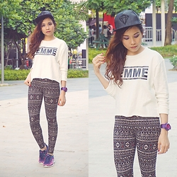 Shai Lagarde - Forever21 Femme Sweatshirt, Forever 21 Outfit, Skechers Sneakers, Casio Watch, Beauty&Butter Nails - La Femme Filipina