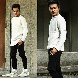 Michael Macalos - Cos White Pullovers, Topman Shorts - White out