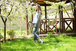 Aisha -- - Marella Top, Bershka Jeans, Zara Cardigan, Msgm Shoes - Spring morning