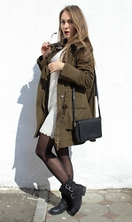 Julia Vorik - Sheinside Necklace, Zara Bag, Asos Boots, Primark Dress, Zara Parka - Back to the early spring