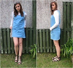 Lauren Rose Bell - New Look Denim Dress, Topshop Lace Up Sandals, Quay Australia Sunglasses - The Denim Dress