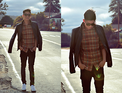 Seb Dang - Urban Outfitters Shirt, H&M Skinny Jean, Adidas Sneakers, Zara Leather Jacket - Somewhere in NoCal