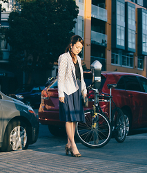 Yuka O - Rebecca Minkoff Jacket, Urban Outfitters Top, Zara Skirt, Sly Leopard Heels, Dholic Clutch - Mission Sunset
