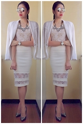 Cassey Cakes - Mango Blazer, Mango Lace Top, Mango Necklace, Mango Flash Lens - Wedding-y