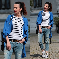 ANETTE ...ideaforfashion - Zara T Shirt - ADIDAS SUPERSTAR