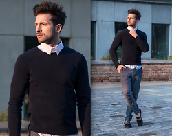 RAFAL MASLAK - Zara Sweater, H&M Trousers, H&M Shirt, Kazar Shoes - TOTAL LOOK #60
