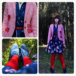 Jennifer Hankin - Laura Ashley Boat Dress, Revival Heart Blazer, Kmart Navy Shoes - Boats