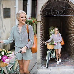 Dannon K Collard - Azalea Romper, H&M Sneakers, Ms Littles Bag Bucket - Summer Strolls