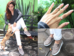 Suemy Lu - Old Navy Sweater, Forever 21 Pants, H&M Rings, Shoe Addiction Slip On - VIDA SALVAJE
