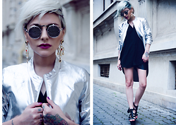 Marta Popescu - H&M Shirt, New Look Sandals, Smuggler Jacket, Dolce & Gabbana Jawelry, Sunglasses - The Color Out of Space