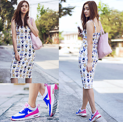 Aileen Belmonte - I Love Nl Clothing Cat Print Dress, Nike Air Max Thea - Kicks and Kitties