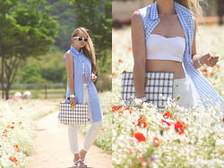 Olga Choi - Couronne Clutch - Gingham check