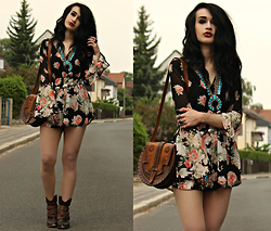 Tessa Diamondly - Dresslink Floral Playsuit - Blow a kiss, fire a gun, we need someone to lean on.