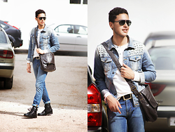 Spoke STYLE - Zara Jeans Jacket, Asos Pull, Levi's® Jeans, Topman Boots, Springfield Bag - DENIM ON DENIM DAZE
