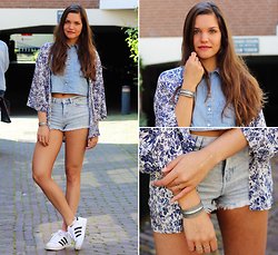 Denise * - Adidas Sneakers, H&M Cropped Denim Top, H&M Denim Shorts - -