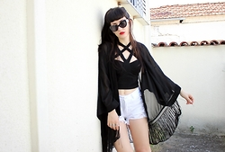 Nadia Drogouli - Asos Crop Top, Dresslink Kimono, Trendsgal Shorts - UNTIL WE SAY GOODBYE