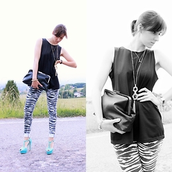 Fashion Vinyls by Ylenia M. - H&M Jeans, Primark Necklace - Zebra Print