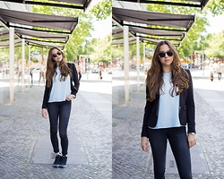 Jana Couture - Nike Sneakers, New Look Blouse, H&M Blazer - The Internationalist