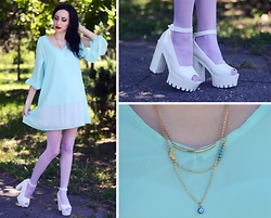 Kary Read♥ - Dress, Shoes, Necklace - Sky♥