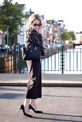 Lian G. - Mango Jacket, Prada Bag, Front Row Shop Culottes - All Black