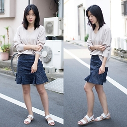 Claire Liu - Little Black Sweater, Little Black Skirt - Flirty Skirt