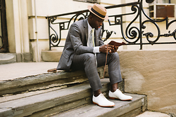 STEVEN ONOJA - Bm Franklin Co Hat, Combatgent Suit, Oliversweeney Shoes, Weekend Casual Tie - Suiting