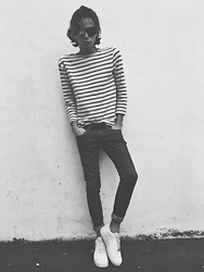 Gianni Sarracino - Cos Top, Cheap Monday Denim, Nike Air Force 1 - Frenchie stripy