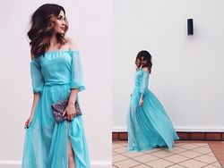 Katu Mikheicheva - Love Republic Evening Dress - Blue inspiration