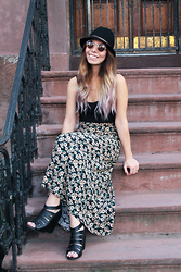 Ximena S - Vintage Skirt, Asos Tank Top, Dsw Sandals, Free People Fedora Hat - The beginning of the end