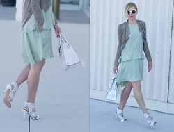 Liat Neuman - Club Monaco Dress, Bcbg Jacket, Nine West Shoes, Aldo Bag - My fancy side