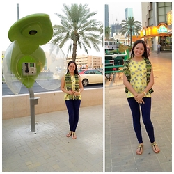 Robina Broñola - Bayo Flowery Sleeveless Top, Forever 21 Purple Leggings, Cln Comfy Sandal, Raggae Scarf - Vegas of the Middle East