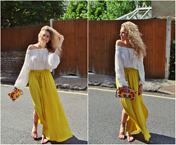 Taylor Gymer - H&M Top, Zara Skirt, Thailand Bag, Aldo Necklace - Canary yellow