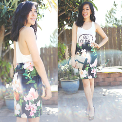 Sherry Lou - Sherry Lou Studio Tank Top, Sherry Lou Studio Skirt, Asos Bag, Glint Heels - Mist of Sun