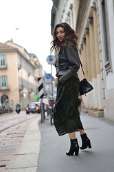 Melissa Cabrini - Nicholas K Dress, Nicholas K Jacket, Prada Boots, Moschino Bag - Military trend
