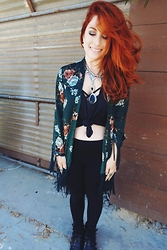 Erin Ashley Goldman - Cotton Candy La Kimono, American Apparel Tank, Forever 21 Leggings, Forever 21 Boots - Gypsy Life