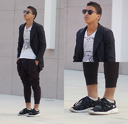Bachir HA - Ray Ban Sunglasses By :, Bershka Sweater By:, Zara Shirt By :, Bershka Pants By :, Nike Shoes By : - NEW DAY