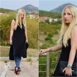 Valeria S. - New Look Tank Top, Jeffrey Campbell Shoes, Michael Kors Watch, New Look Clutch - Urban