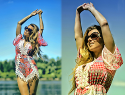 Pola D. - Sheinside Jumpsuit, 70's Sunglasses - Summer love