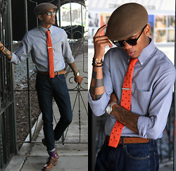 Justin T - Pendleton Hat, Stafford Shirt, Pretty Fly Society Tie, Fossil Belt, Forever 21 Denim, Banana Republic Shoes - At The End Of The Tunnel