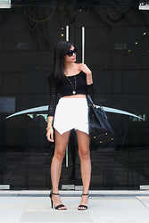 Adi Amor - Topshop Sunnies, Forever 21 Top - THE MONOCHROME TONE