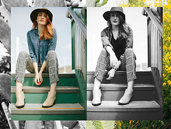 Katie D. - Jeffrey Campbell Boots, Anthropologie Pants, Anthropologie Denim - A Saturday