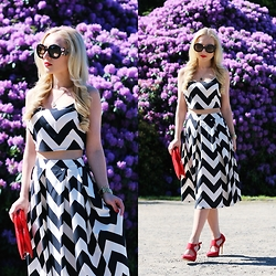 Justyna B. - Prada Sunglasses - Black and white two piece set