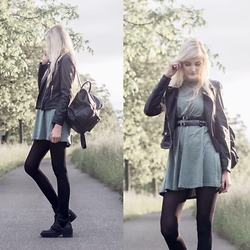 Faye S. - Sheinside Dress, Zara Jacket, Regalrose Harness, C&A Backpack, Jeffrey Campbell Boots - Here's your one chance to make a difference