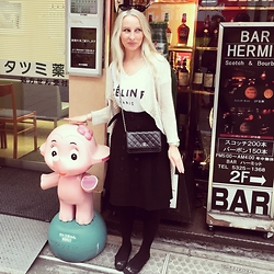 Radana Adachi - Christian Dior Ballerinas, Burberry Skirt, Chanel Bag - Meeting with Satochan